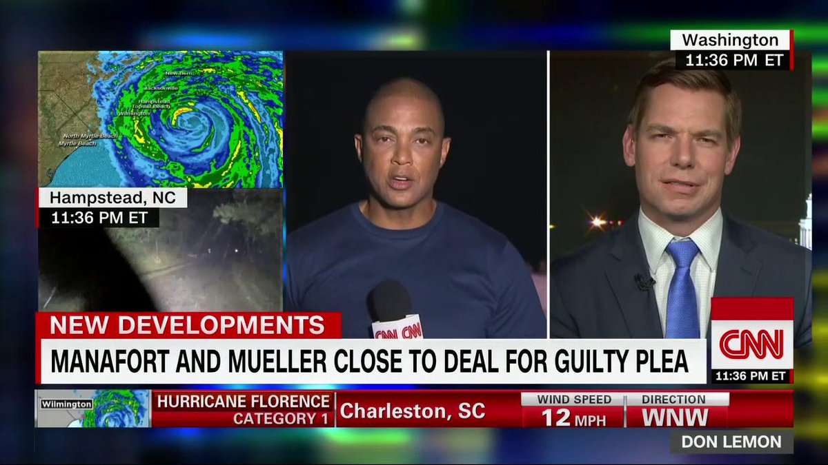 Democratic Rep. Eric Swalwell says that if its true that former Trump campaign chairman Paul Manafort is close to reaching a guilty plea deal with special counsel Mueller, then the jig is up. cnn.it/2NdWdR0
