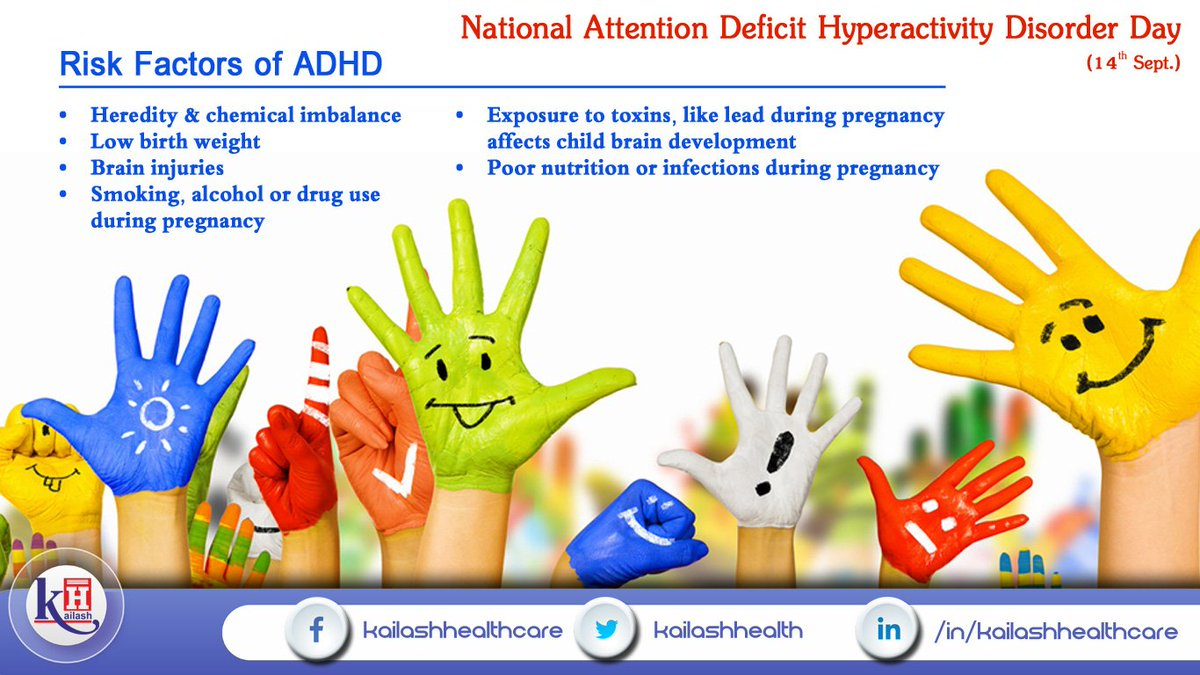 risk factors of adhd in childhood Objectives: epilepsy, febrile seizures, and attention-deficit/hyperactivity disorder (adhd) are disorders of the central nervous system and share common risk factors conclusions: our findings indicate a strong association between epilepsy in childhood and, to a lesser extent, febrile.