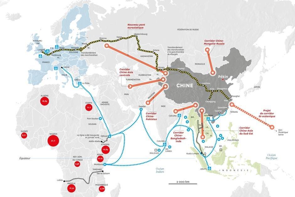 Les nouvelles routes de la soie, ce projet pharaonique de la Chine ? dans News DnC9CckWwAIdIIb