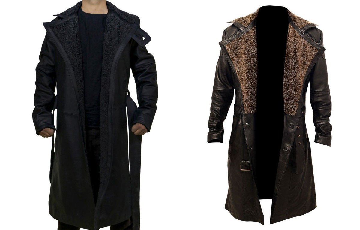 Men/'s Outfit Ryan Gosling Blade Runner 2049 Waxed Cotton Coat Black Friday Sale