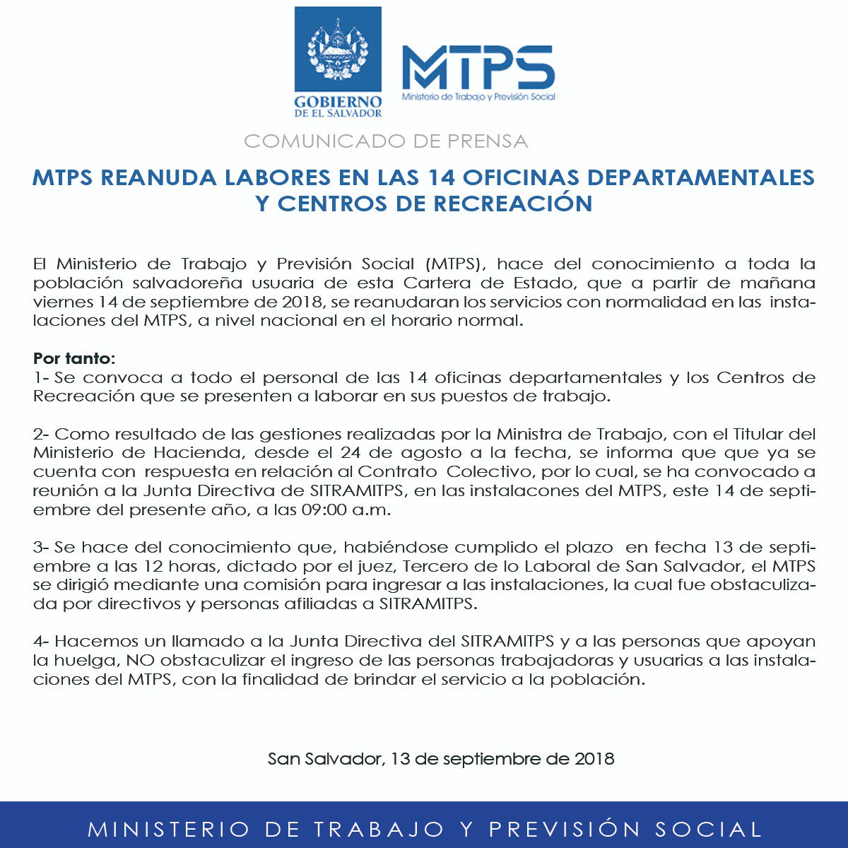 Ministerio Trabajo on Twitter: \