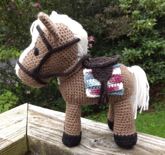 CROCHET PATTERN for Pretty Crochet Horse Pretty Pony Crochet | Etsy | 537x570