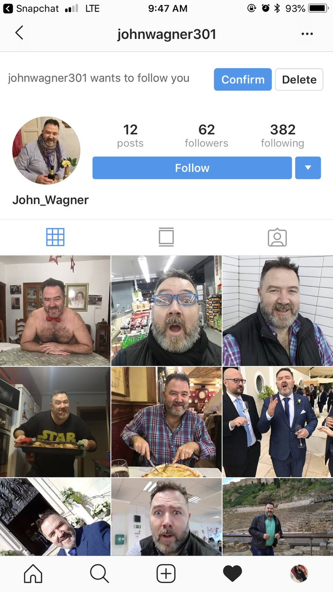 So do I let good ole John here follow me? 🤔🤔 I'm really digging that red bow tie he's got.