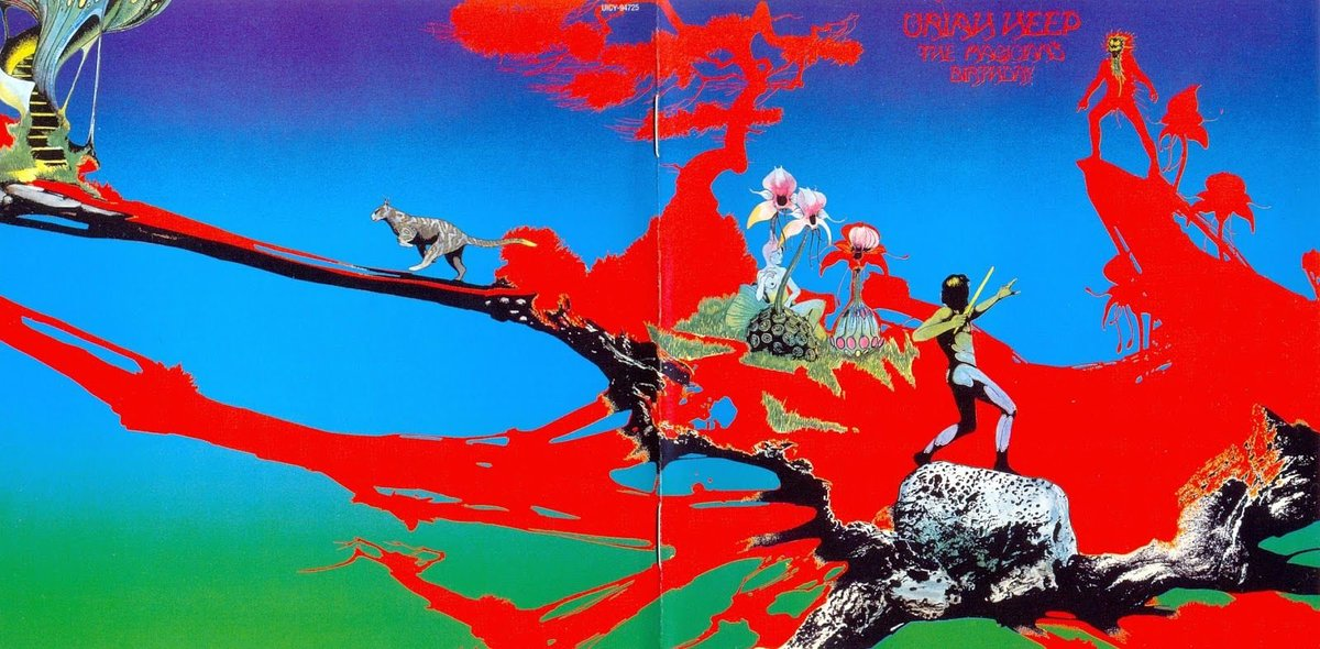 Weirdland Tv On Twitter Cover Art By Roger Dean For The 1972 Uriah Heep Album The Magician S Birthday