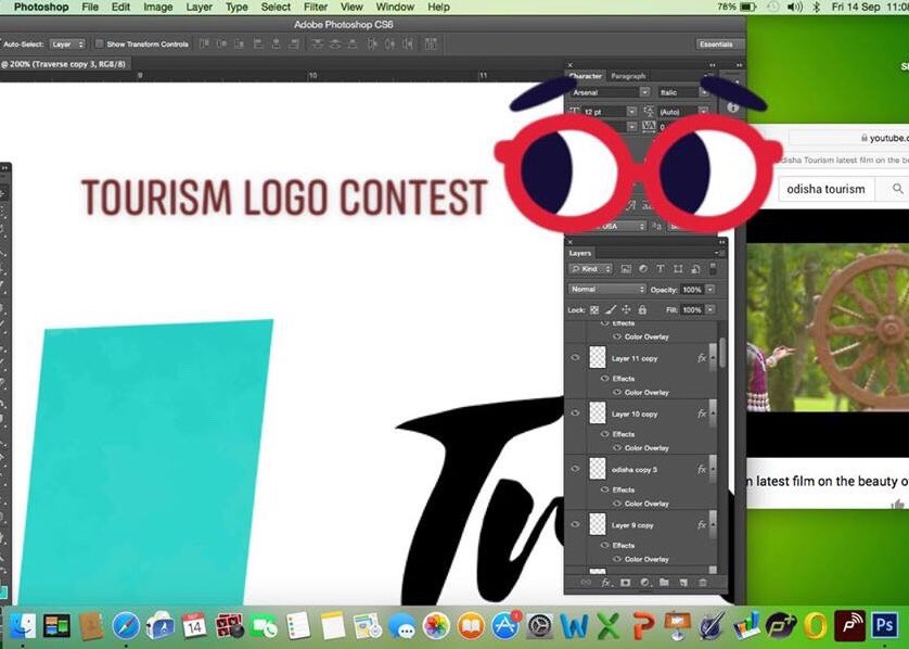 Proshish Golyan On Twitter Trying To Crack The Logo Option For Odisha Tourism Logo Design Contest