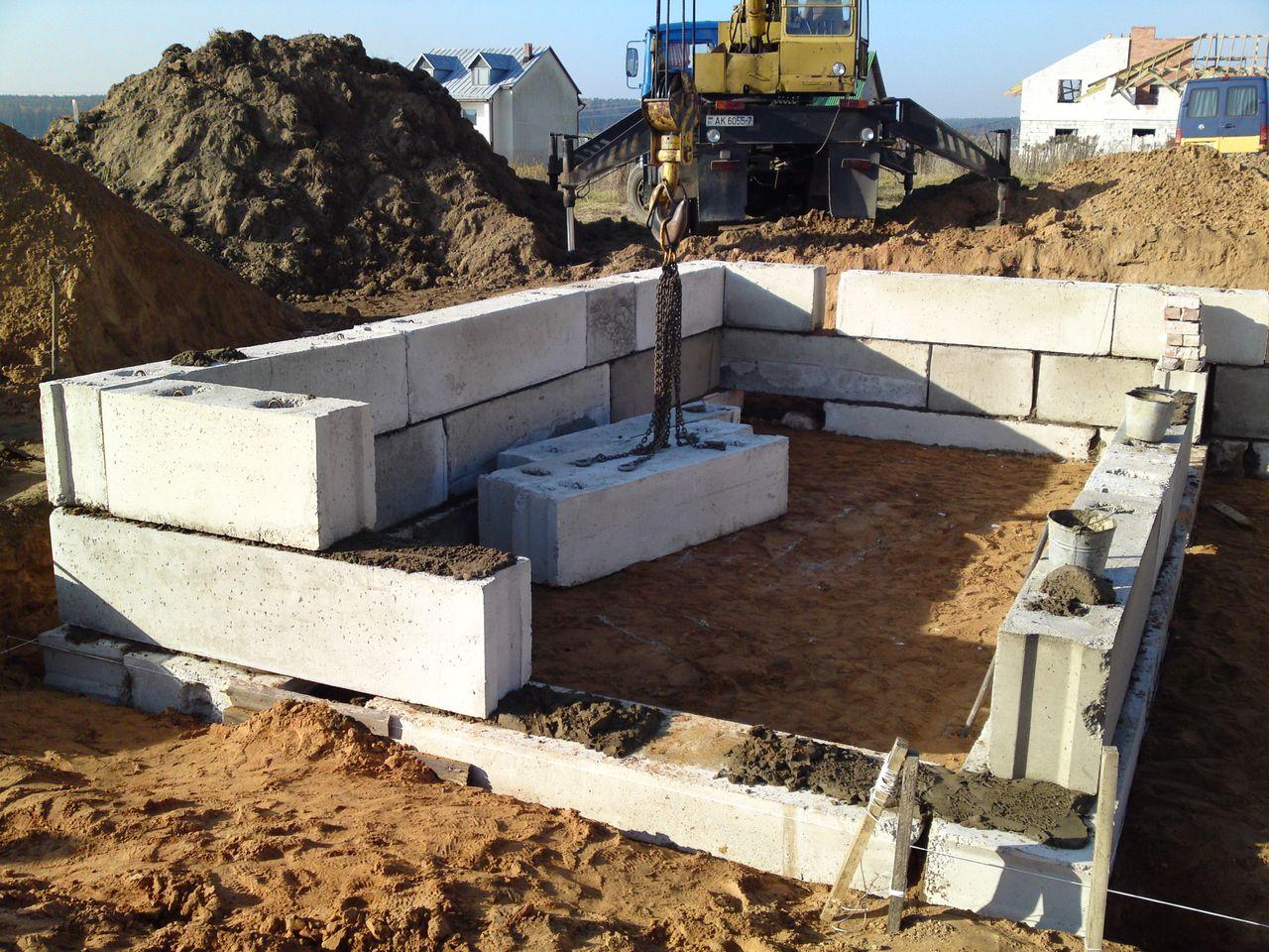 сколько стоит бетонный блок для фундамента