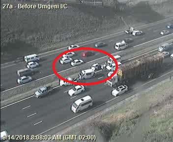 78213: Crash on N2 Northbound after N2 EB Cloete I/C. Right lane closed. Expect Delays Photo