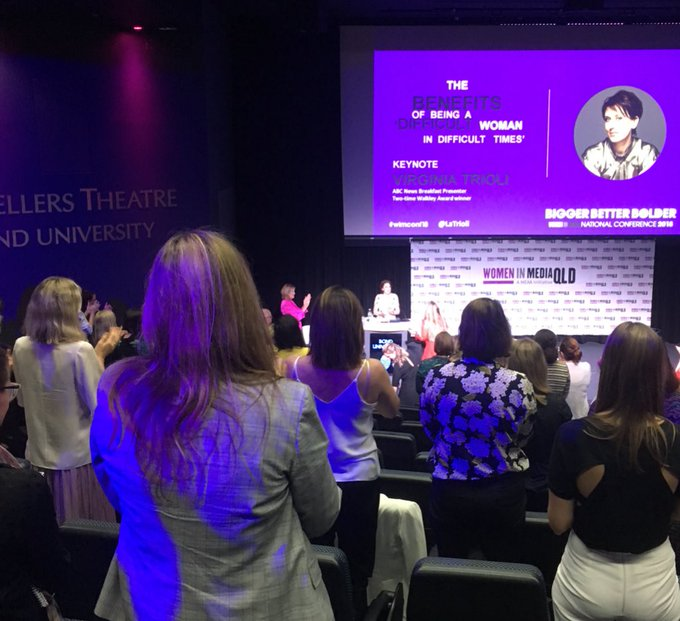 Standing ovation for the brave, brilliant, difficult woman @LaTrioli #WIMconf18 Photo