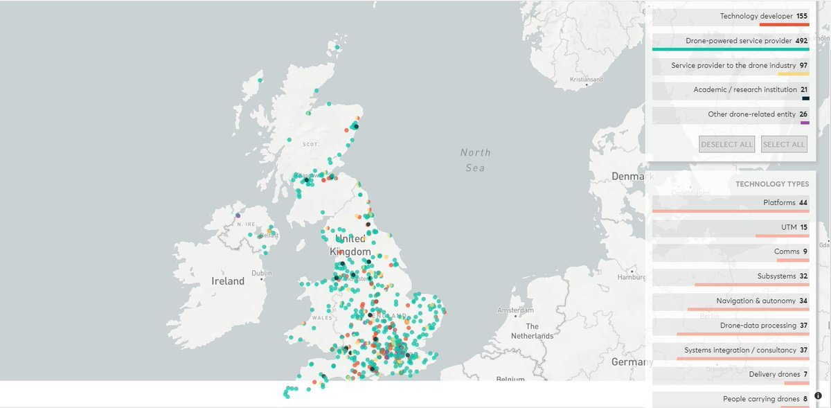 Interactive Map Of Uk.Nesta On Twitter Mapping The Uk Drone Industry Use Our
