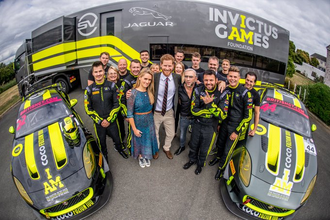 Reflection on yesterday's Royal visit. A fitting way to close the season and great reward for the team's incredible commitment in our first professional year #InvictusGamesRacing #FlashbackFriday Photo