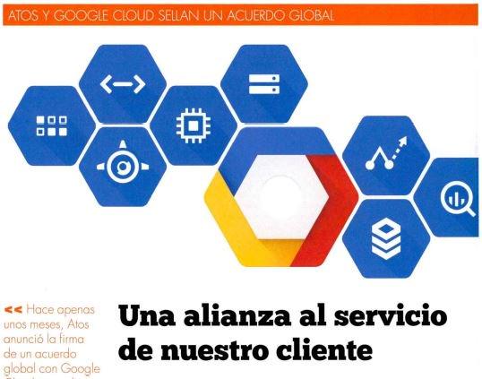 Atos y @googlecloud sellan un acuerdo global para abordar la #TransformacionDigital de...