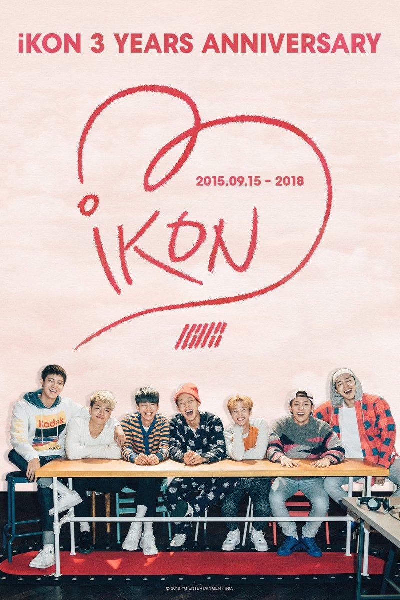 #iKON Debut 3 Years Anniversary   #아이콘 #20180915 #iKON3rdAnniversary #YG