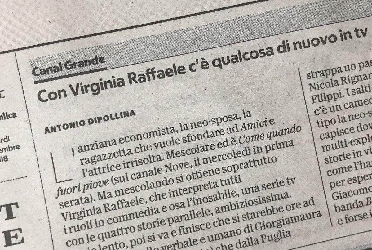 """Oggi su @repubblica #Dipollina parla di #Cqfp #ComeQuandoFuoriPiove di @VirgiRaffaele: """"c'è qualcosa di nuovo in tv"""" @nove  - Ukustom"""