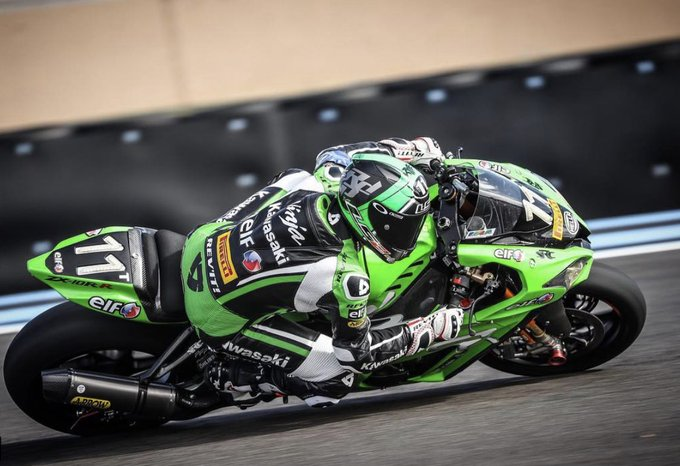 While the yellow riders session is well underway, the fastest time in the blue riders session was set by Randy de Puniet on the Team Kawasaki SRC with a smashing 1:54:007 - new record on this new track! #Bol2018 #FIMEWC Photo