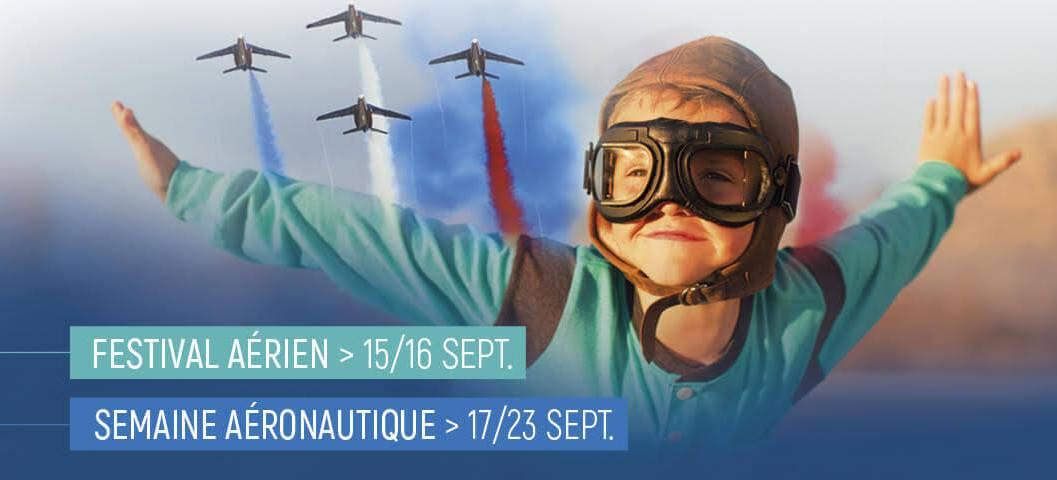 #savethedate 🗓️ Rdv au forum #AilesEtVolcans pour découvrir le secteur de l'#aéronautique ✈️ du 17 au 23 septembre. De nombreuses animations au programme !  En savoir plus 👉 https://t.co/ipAIxqKFlU https://t.co/jKvdXCNZYw