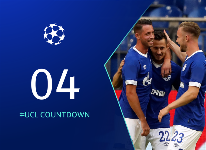 #UCL Countdown ⌛🙌⚽ 0⃣4⃣ days to ⚒ @s04 @Mark_Uth #Schalke Foto