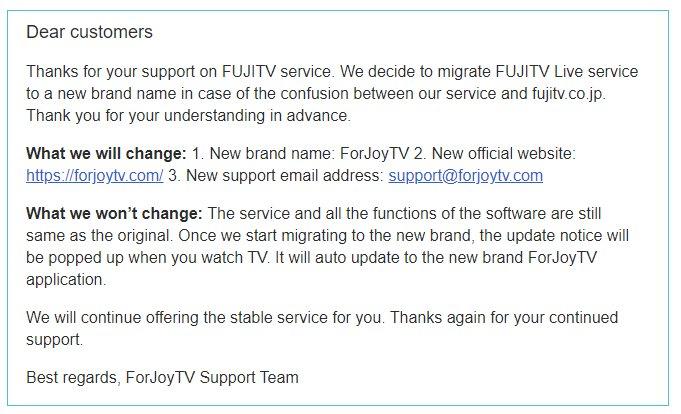 Forjoytv Not Working