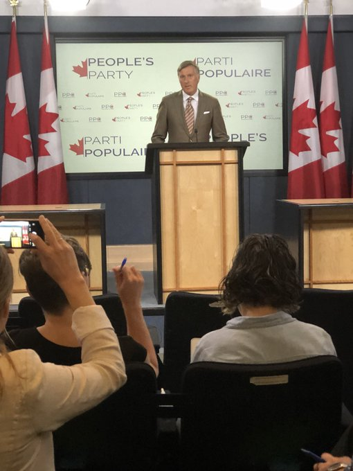 Here it is: Maxime Bernier announces The People's Party of Canada. #cdnpoli Photo
