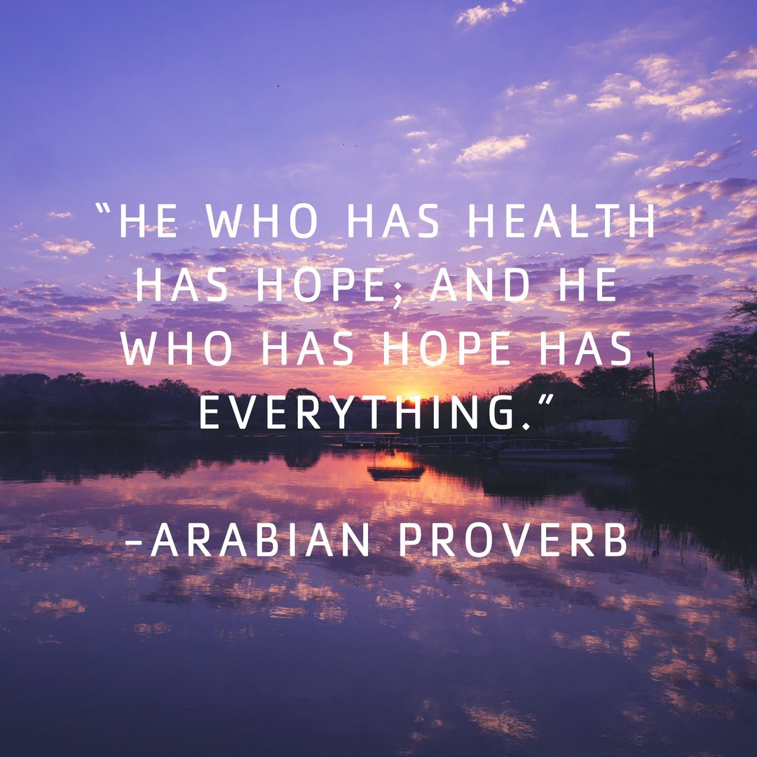 """Alamance County YMCA on Twitter: """"""""He who has health has hope; and he who  has hope has everything."""" -Arabian Proverb #ACYMCA #HealthBreedsHope… """""""