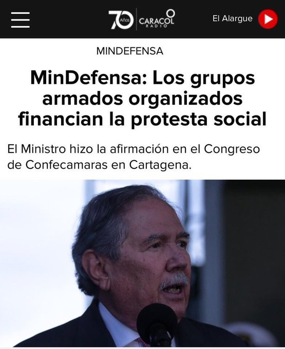 #MinDefensaEnemigoDeLaProtesta Photo