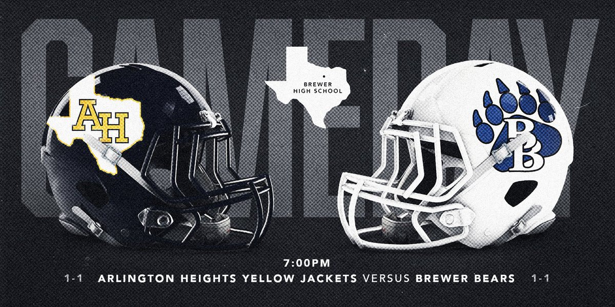 It's #GAMEDAY vs Brewer! Game time is set for 7:00PM at Brewer HS. Come Support #HeightsFottball! 📸: @nickhenningefx