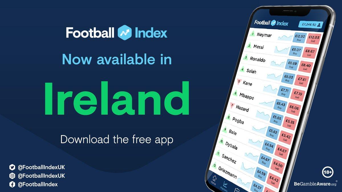 Boom 🔥 Hello Ireland, we are officially open 🍀 Onwards & Upwards 🚀 #FootballINDEX #FICommunity