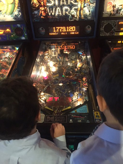 Last week, our 4th graders went to Modern Pinball NYC Arcade, Party Place & Museum, and got to learn about pinballs, play games, and engineering principals. Our boys had a blast. See the photos below. #AroundAS #FlashbackFriday Photo