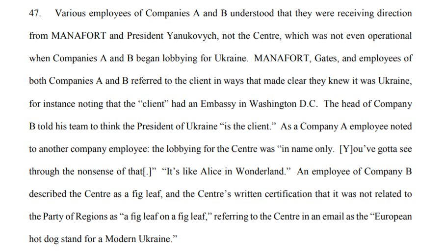 "PODESTA & MERCURY KNEW: New MUELLER info shows that the firms knew the non-profit they were representing was a front for MANAFORTs pro-Russian client. A Mercury employee said the set-up was like Alice in Wonderland."" A Podesta employee called it ""a fig leaf on a fig leaf."""