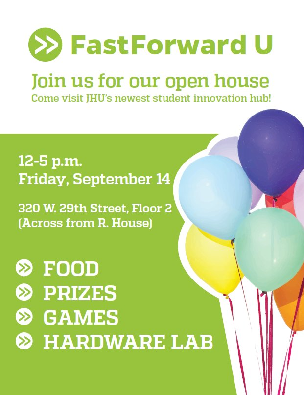 3336fdfe699cf TODAY IS THE DAY! Come check out your new innovation hub  FastForward U  from 12-5pm! Use the hashtag  FFUopenhouse and tell us what you think about  the ...