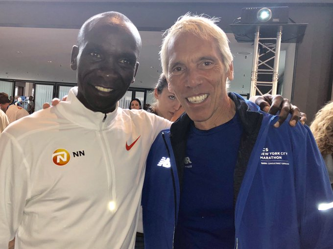 Wishing @EliudKipchoge good luck in the @berlinmarathon this weekend. Could the #TCSNYCMarathon be next?? Photo