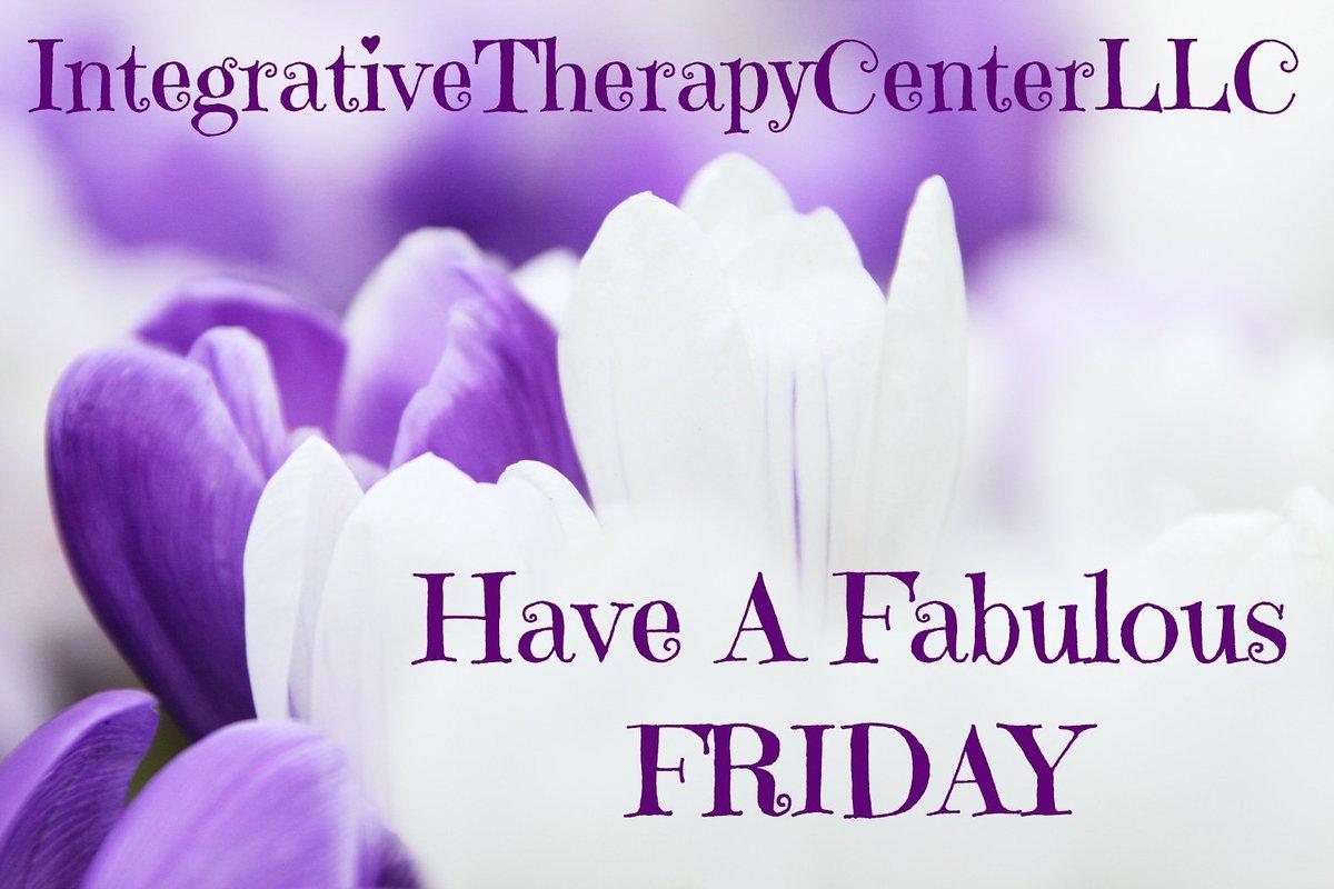 #HappyFriday #FabulousDay #YouMatter #FridayTheBestDay #IntegrativeTherapyCenterLLC https://t.co/3Ki7Ji58xf