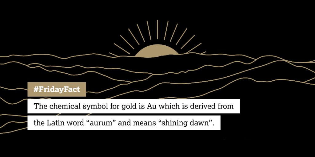 World Gold Council On Twitter Fridayfact The Chemical Symbol For