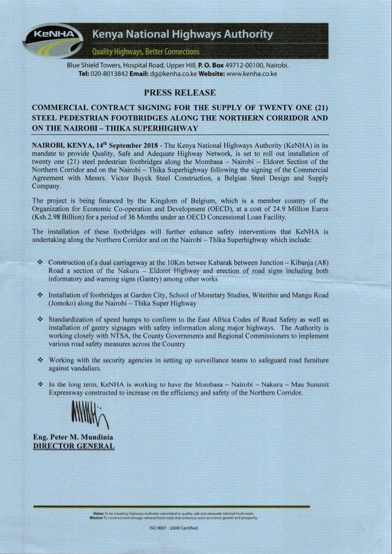 Kenya National Highways Authority Kenha Kenhakenya Twitter