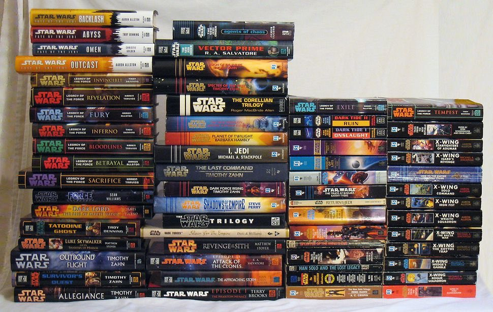 """#TheGoodTimesWere when Star Wars fans could read their books in peace without newbies screaming that they're not """"cannon."""" <br>http://pic.twitter.com/fv5leOmCEv"""