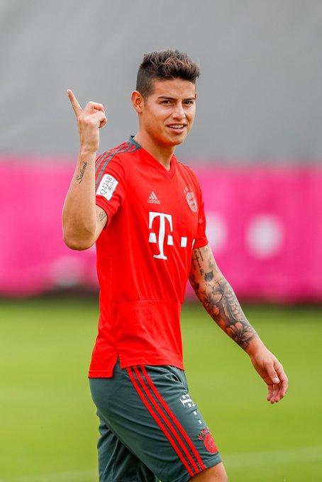 Último treino antes do jogo de amanhã contra o Bayer Leverkusen! 💪🏼 #FCBB04 #MiaSanMia Foto