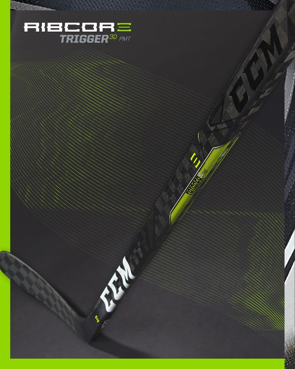 CCM Ribcor Trigger 3D Stick available for preorder 9/28/18. Available for purchase online and in store 10/26/18 #createnewgoals #jerryshockey