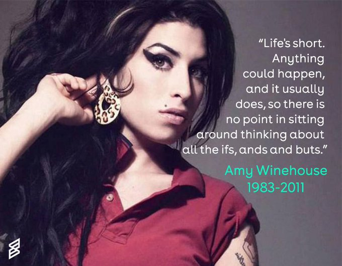 Happy birthday Amy Winehouse. The talented musician would have been 35 today