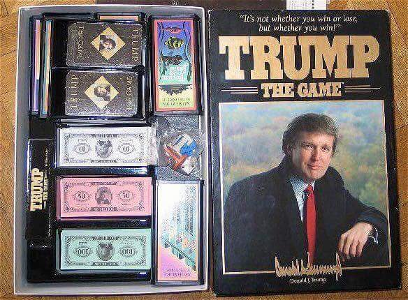 #InThe80sWe had Trump, an idiot board game. Today we have Trump, an idiot bored & gaming the system. Photo