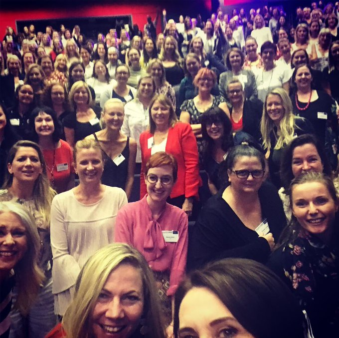 So brave. So honest. So poignant. I don't even know how to explain the most incredible end to the first day of #wimconf18 (except that this woman @LaTrioli is exceptional in every way - so generous with her time to even come up to be with us - let alone bare her soul) #wimconf18 Photo