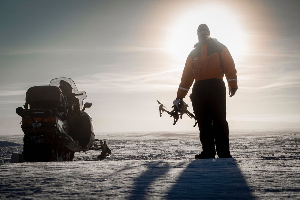 #FlashbackFriday to a year ago when drone op @petergskeith filmed the Sami reindeer herders in temperatures as low as -25C/-13F for #OneStrangeRock #Norway