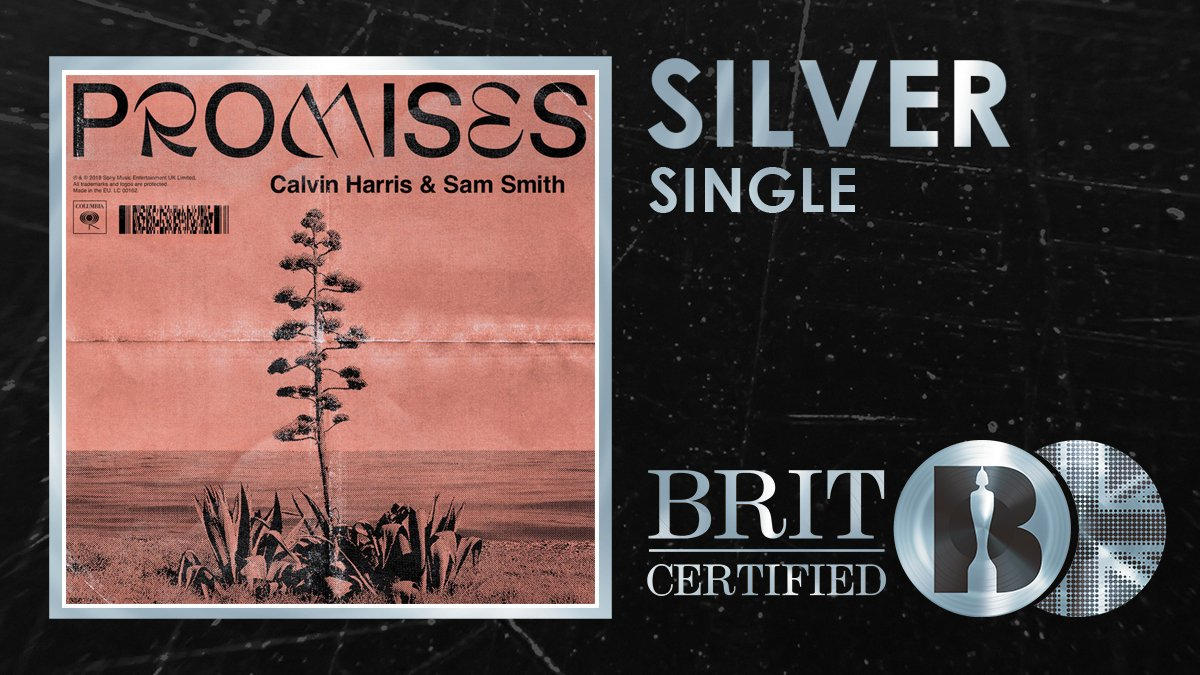 💫 They might make no Promises but @CalvinHarris and @SamSmith know how to make a #BRITcertified Silver selling single! 🇬🇧💿