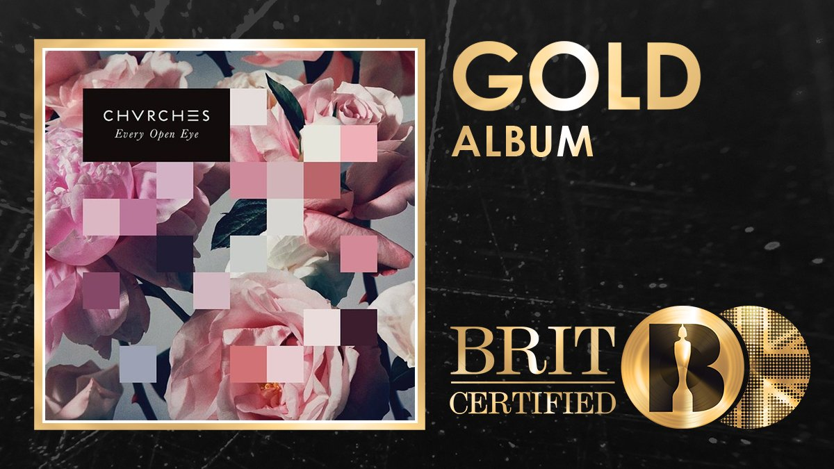 👀 @CHVRCHES second studio album Every Open Eye is #BRITcertified Gold! 🇬🇧📀
