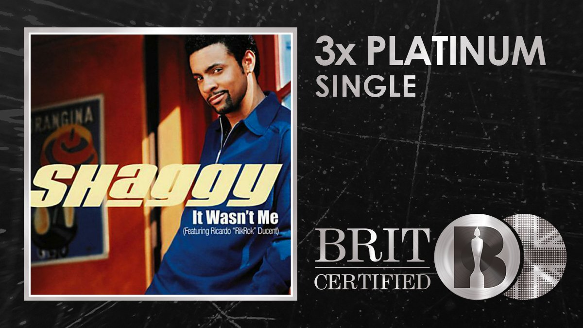 ⏪Lets rewind 1⃣8⃣ years to @DiRealShaggys hit It Wasnt Me which is now #BRITcertified 3x Platinum! 🇬🇧💿