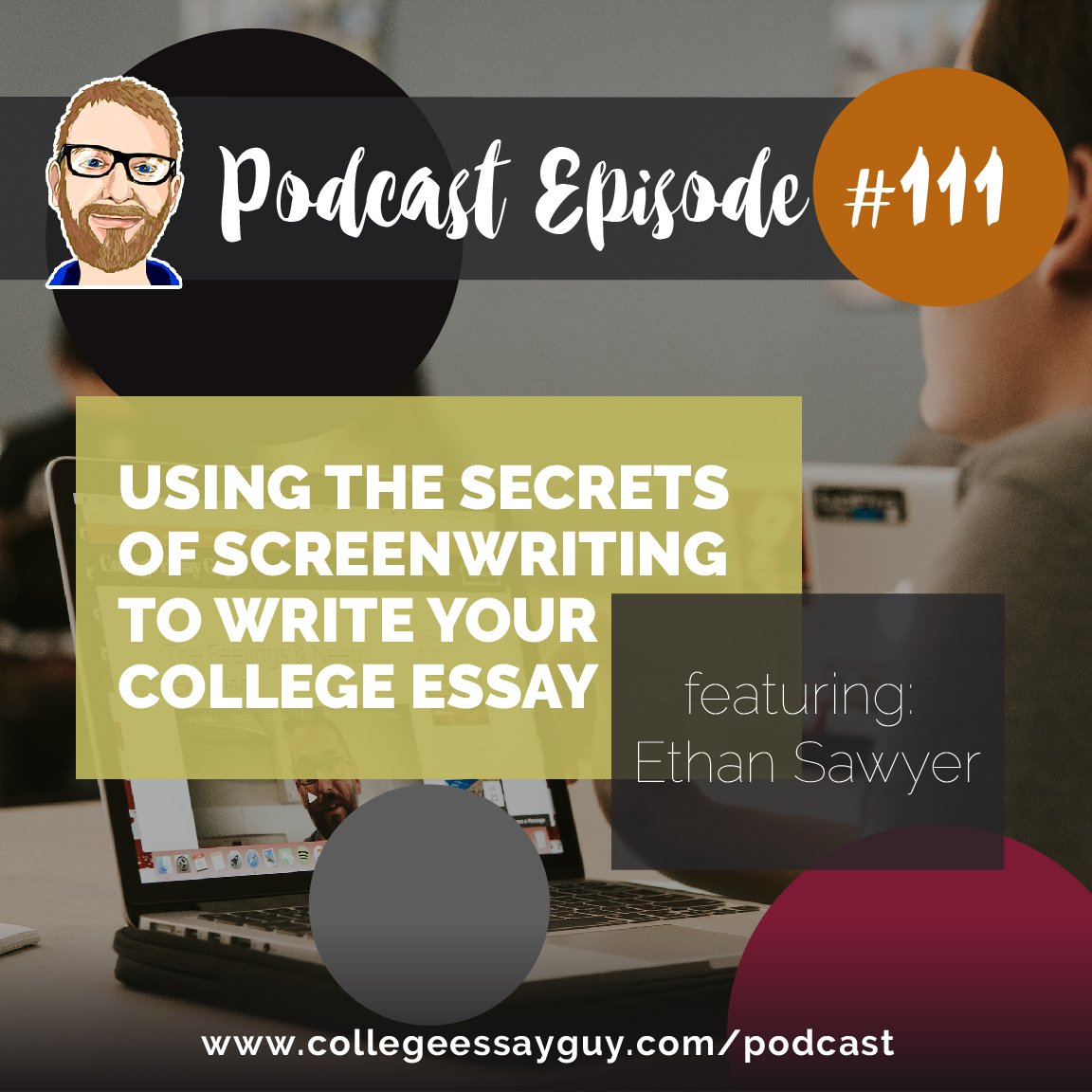 "On this episode, I take the mic and share with you a presentation I started giving in 2011, called ""Using the Secrets of Screenwriting to Write Your college Essay."" 🎧 Listen: goo.gl/SCnNc9"