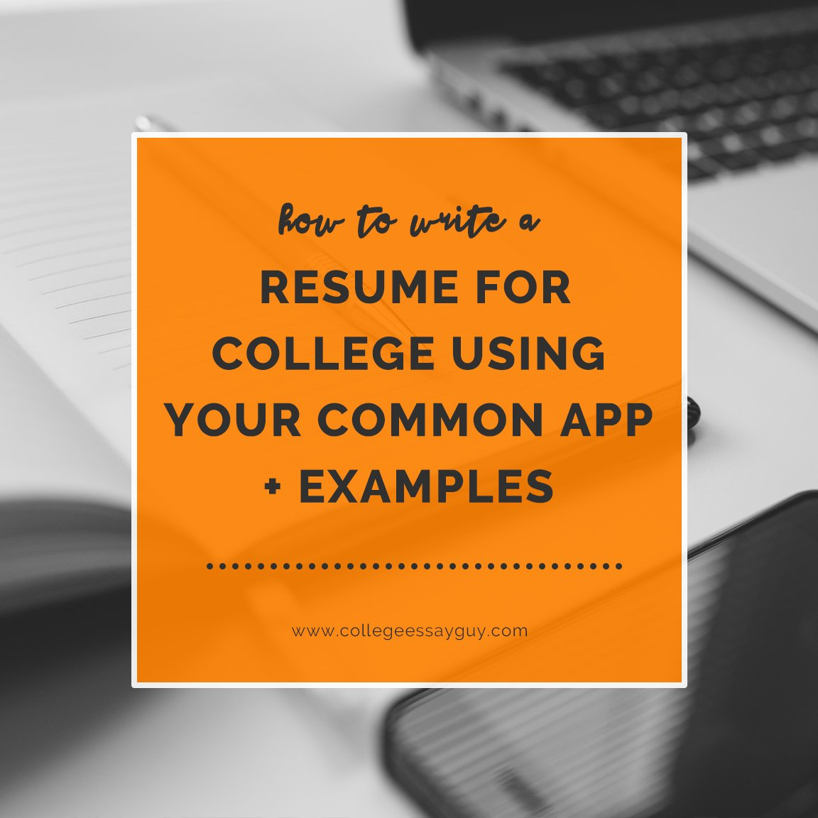 While many college applications do not require a resume (and many outright ban them), knowing how to write a resume for college using your Common App is an incredible time-saving move for a high school senior. Here's how to do it: goo.gl/XHdyMj