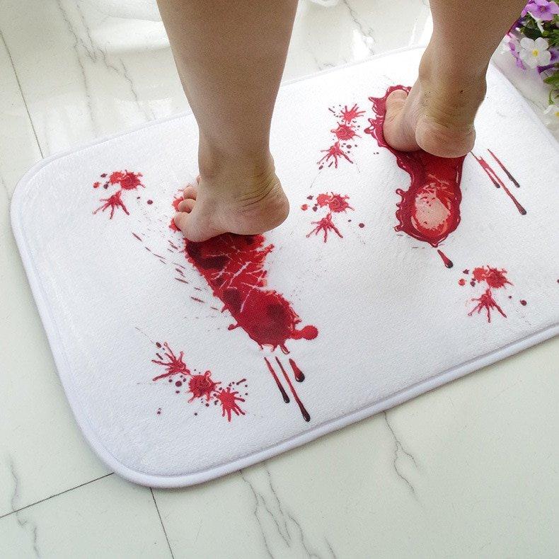 Anti-Slip Bloody Footprints Bath Mat microfiber creative the blood footprint ebay.us/teCmxU Wrightsville Beach #FlorenceHurricane2018 #InThe80sWe #FridayMotivation Wilmington #FridayFeeIing #FlashbackFriday