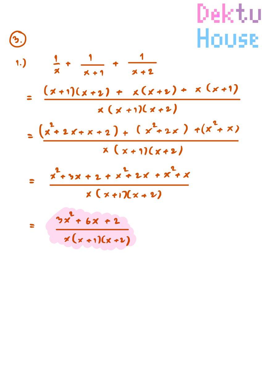 เฉลย แบบฝึกหัด3.6 คณิตศาสตร์ ม.4 เล่ม1 เรื่อง... เศษส่วนพหุนาม (ข้อ3) #เศษส่วนพหุนาม #สรุปคณิต #สรุปเลข #ติวเลข #ติวคณิต #สอนคณิต #สอนเลข #สอนโจทย์เลข #คณิตศาสตร์ #dektuhouse https://t.co/13EA5FwIhb