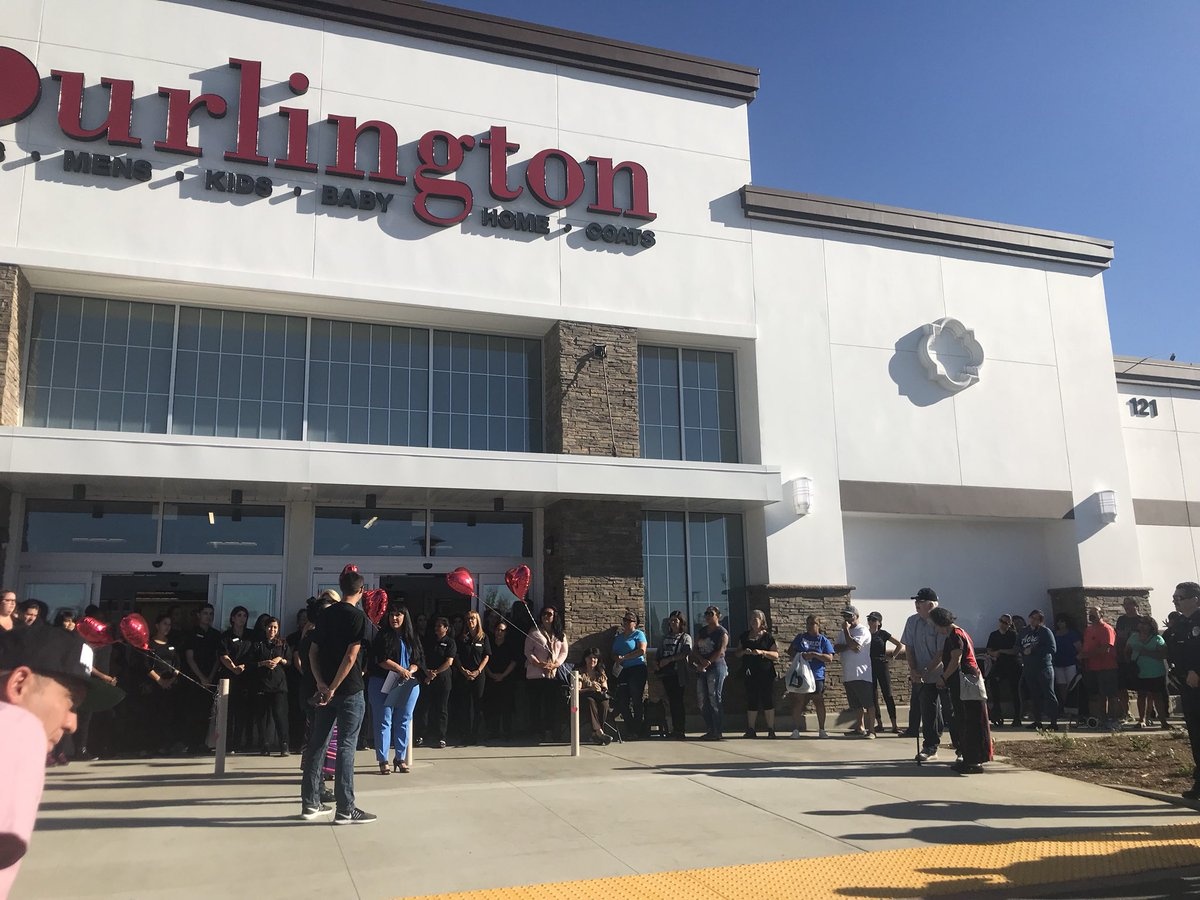 70ab3840c3 Big crowd on hand as the Mayor welcome Burlington at their ribbon-cutting  this morning. The store is open for business. Stop by at the Village  Shopping ...