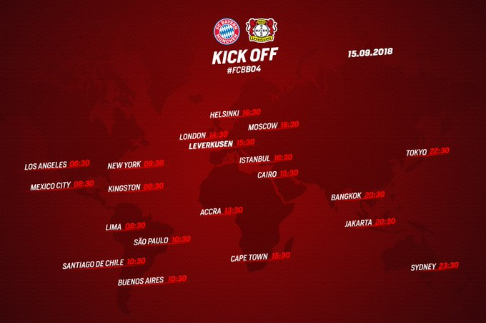 ⚫️⏰🌍🌎🌏🌍⏰🔴 Kick off times around the world tomorrow! Where will you be watching #FCBB04? Foto