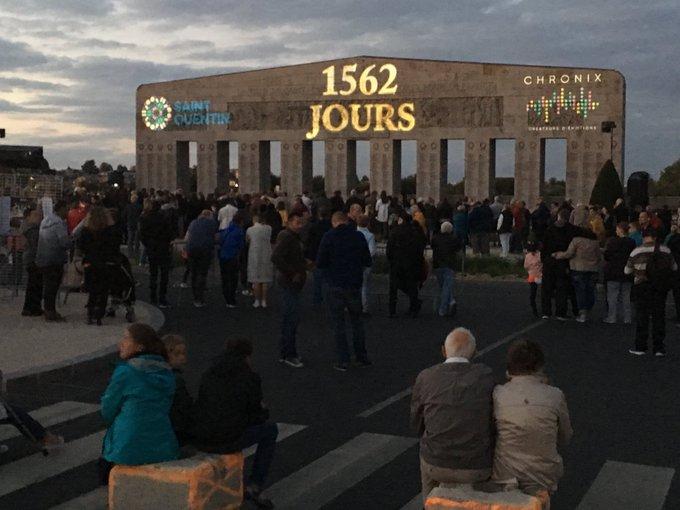 Les #JEP2018 commencent dès ce soir à Saint-Quentin avec un spectacle son et lumières qui retrace les 1562 jours sous la Grande Guerre racontés par 2 enfants, pour mieux faire connaître aux jeunes Saint-Quentinois l'histoire de notre Ville. Photo